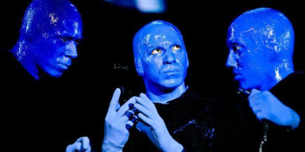 Die Blue Man Group beim Auftritt im AWD Dome in Bremen. Keine Personenrechte verfuegbar, nur fuer redaktionelle...