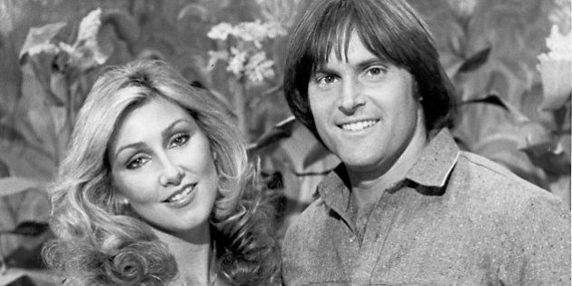 This is a 1980 photo of Olympic gold-medalist Bruce Jenner and his fiance actress Linda Thompson posing...