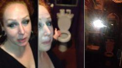 Mulher encontra espelho falso em banheiro feminino; dono se recusa a