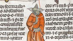 Desenho de Yoda é encontrado em manuscrito