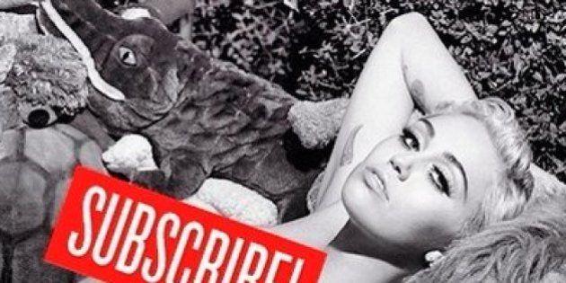Miley Cyrus posa nua com animais de pelúcia para a (REVISTA) V