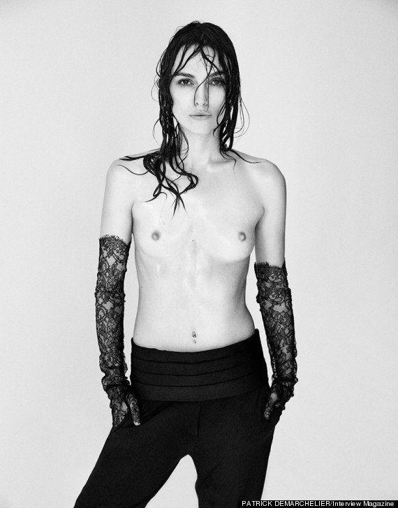 Keira Knightley nua: atriz posa topless para a revista