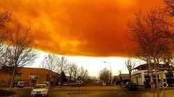 Nuvem laranja tóxica assusta moradores de cidades da