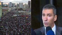 Promotor que chamou manifestantes de 'bugios' é suspenso por 15