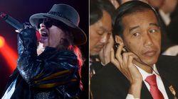 Líder do Guns N' Roses detona presidente da Indonésia após