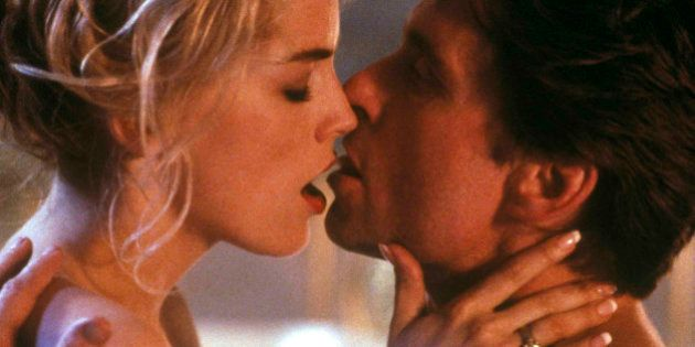 In this photo provided by Tri-Star Pictures, Michael Douglas and Sharon Stone are shown in the