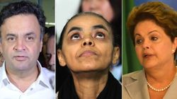Marina supera Dilma e Aécio no Facebook e lidera buzz dos