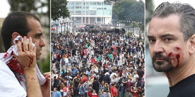 Terceiro dia de protesto de professores em greve no Paraná é marcado pela violência