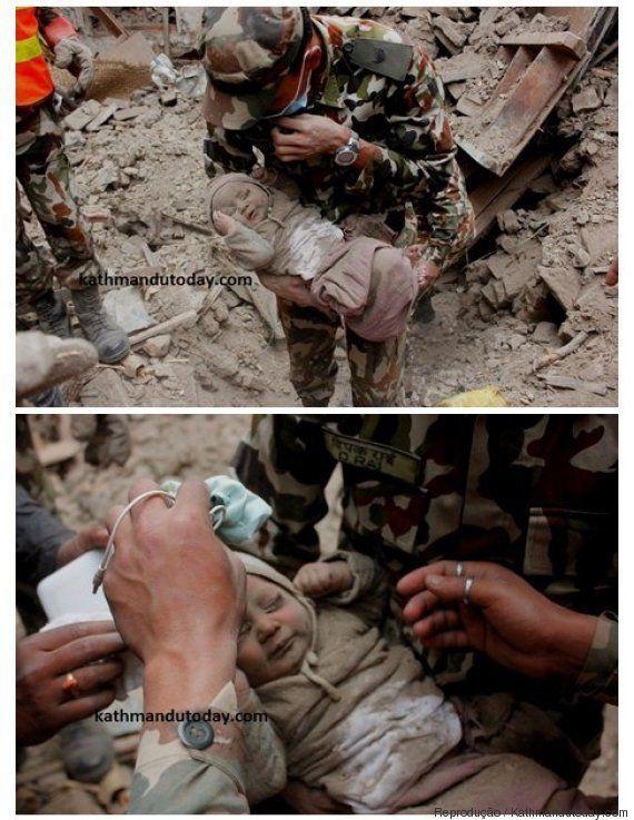 Emocionante: Bebê de apenas 4 meses é resgatado com vida após 22 horas preso em escombros no