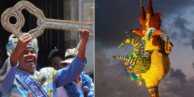 Rio de Janeiro e Recife iniciam as comemorações de Carnaval com 'Rei Momo' e 'Galo da