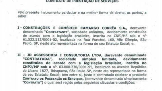 José Dirceu recebeu R$ 886.500 da construtora Camargo Corrêa por