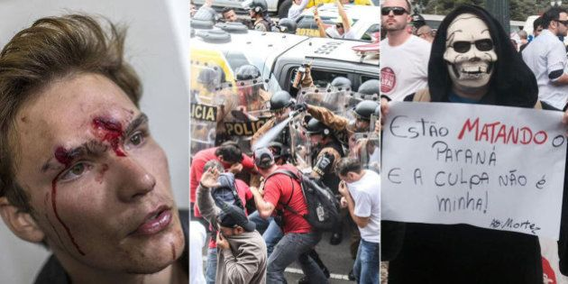 Ação da Polícia Militar da era Beto Richa é criticada por especialistas e supera truculência do governo...