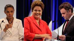 Dilma e Marina polarizam debate do SBT, enquanto Aécio fica para