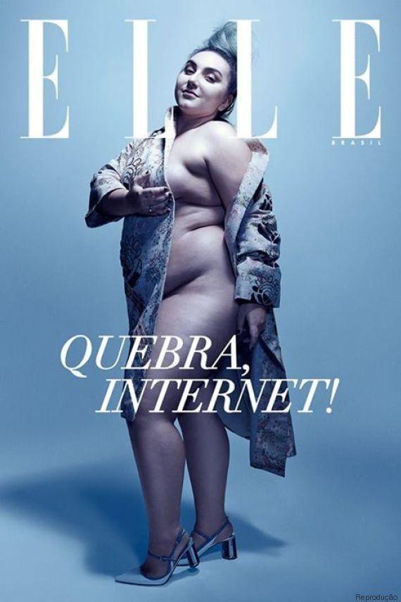 Juliana Romano, jornalista e blogueira plus size, estrela edição histórica da ELLE Brasil