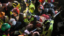 Mulher é resgatada após cinco dias sob escombros no