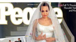 Angelina Jolie se casa com o vestido mais fofo de todos os