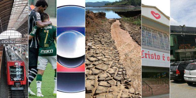 Crise da água em SP: Clubes de futebol, redes Globo e Record, igrejas e condomínios são os grandes