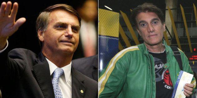 Crítico dos LGBTs, deputado Jair Bolsonaro sorri ao ganhar beijo de Amin Khader