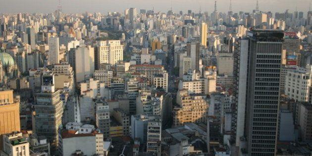 The Sao Paulo skyline looking towards Avenida Paulista from the Edificio Banespa