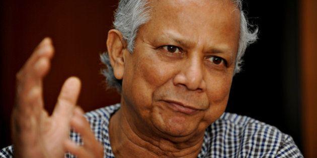 To go with Finance-banking-Bangladesh-Nobel-Yunus,INTERVIEW by Julie Clothier Nobel laureate Muhammed...