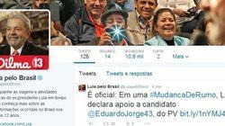 Lula divulga apoio ao Eduardo Jorge no Twitter: