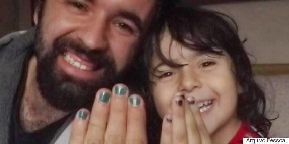 'As cores são para todos', diz pai que pinta as unhas em apoio ao filho de 4