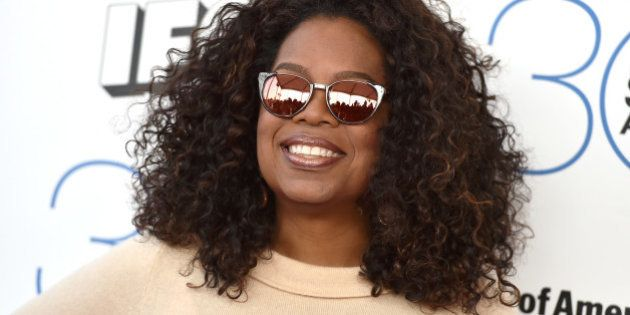 Oprah Winfrey arrives at the 30th Film Independent Spirit Awards on Saturday, Feb. 21, 2015, in Santa...