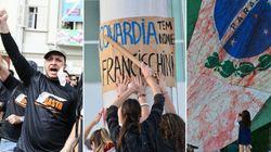 Luto: Professores fazem ato contra a violência em