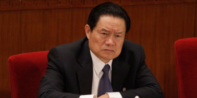 CHINA - MARCH 08: Zhou Yongkang, member of the Standing Committee of the Political Bureau of the Chinese...