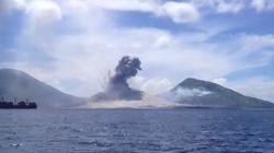 BOOOOOM! Turistas registram o momento exato de erupção