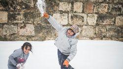 Veja fotos LINDAS da nevasca no Oriente