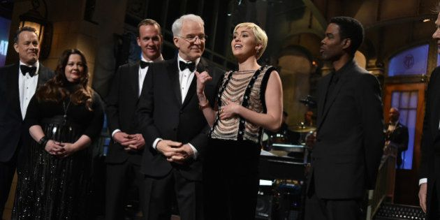 SATURDAY NIGHT LIVE 40TH ANNIVERSARY SPECIAL -- Pictured: (l-r) Tom Hanks, Melissa McCarthy, Peyton Manning,...