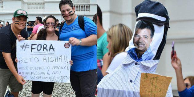 Manifestantes vão às ruas para pedir o impeachment do governador Beto Richa em