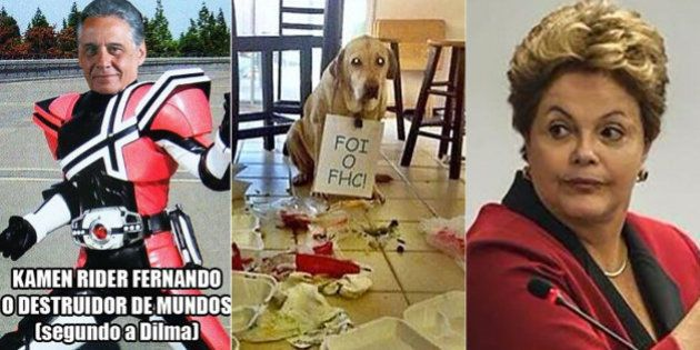 Foi o FHC: Internautas pró-PT e pró-PSDB brincam e batem boca após Dilma Rousseff criticar Fernando Henrique