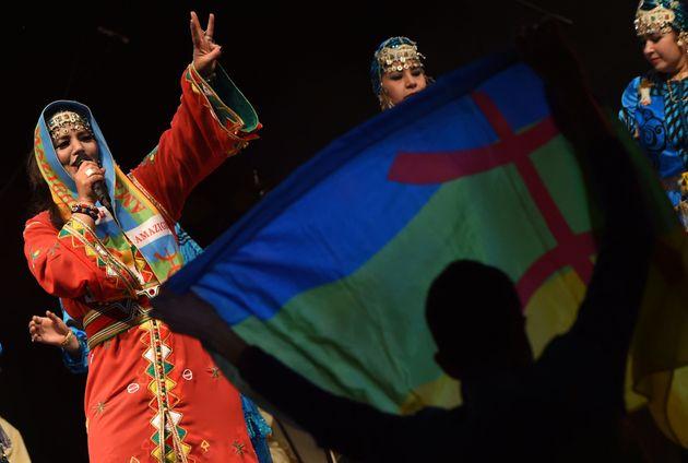 La chanteuse amazighe Fatima Tabaamrant se produit lors du festival