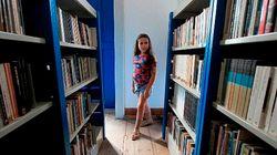 Com 7 anos ela sonha em montar uma biblioteca pública. E já ganhou 5 mil livros de quem quer