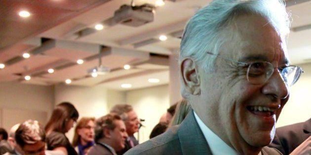 SAO PAULO, BRAZIL - APRIL 26: (BRAZIL OUT) Former Brazilian President Fernando Henrique Cardoso attends...