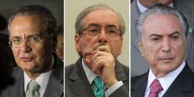 O rosto do PMDB: Briga por poder opõe Eduardo Cunha, Renan Calheiros e Michel