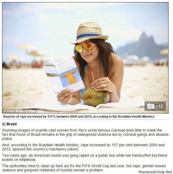Brasil aparece em 2º lugar em lista dos destinos mais inseguros para mulheres viajarem sozinhas no