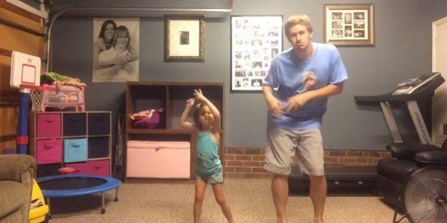 Pai e filha recriam coreografia de clipe da cantora Taylor Swift e o resultado é adorável