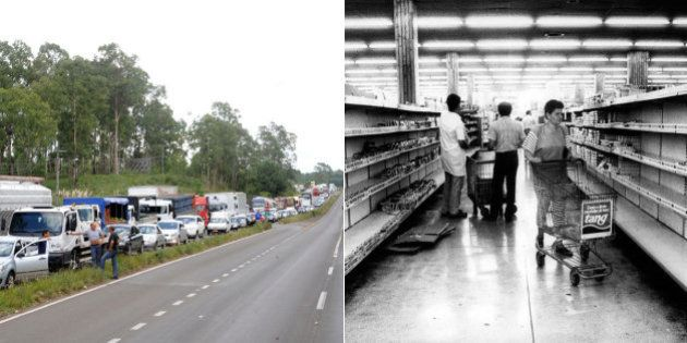 Greve dos caminhoneiros chega ao 8º dia e impacto na vida e no bolso do brasileiro já começa a ser sentido...