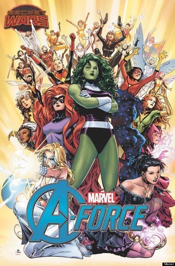 Uma primeira olhada em 'A-Force' - Os Vingadores da Marvel só com