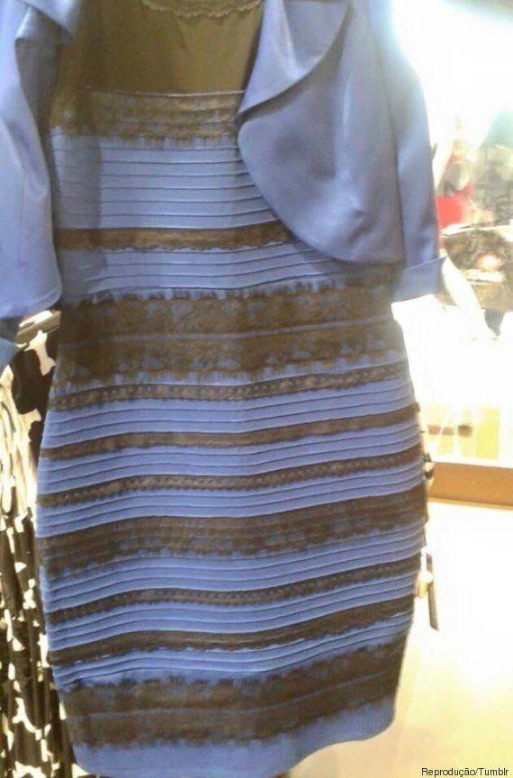 Por que ninguém concorda sobre a cor deste vestido, de acordo com a