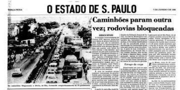 'Greve'? 'Racionamento'? Capa do 'Estadão' mostra que nossos problemas ainda são os mesmos de 1986