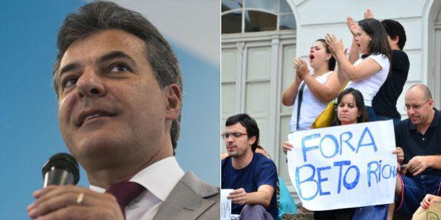 Governador Beto Richa admite erros, mas repassa a Dilma a culpa pelo rombo nas contas do
