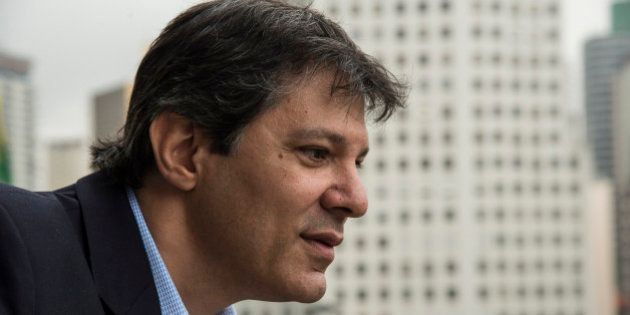 Fernando Haddad, mayor of Sao Paulo, speaks during an interview at City Hall in Sao Paulo, Brazil, on...