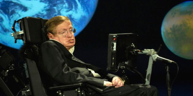 Dr. Stephen Hawking, a professor of mathematics at the University of Cambridge, delivers a speech entitled...