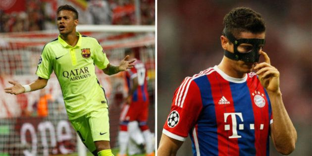 Com 2 gols de Neymar, Barça vai para final da Liga dos