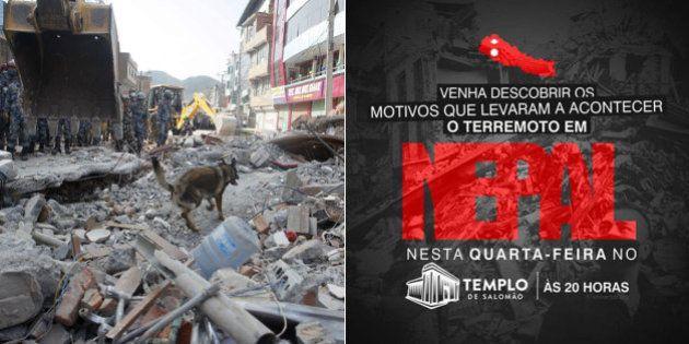 Igreja Universal realiza culto em São Paulo para 'revelar' que terremotos no Nepal são sinais do