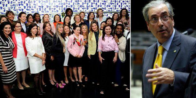 Sob intervenção de Cunha, bancada feminina da Câmara racha às vésperas de escolher cargos da Secretaria...
